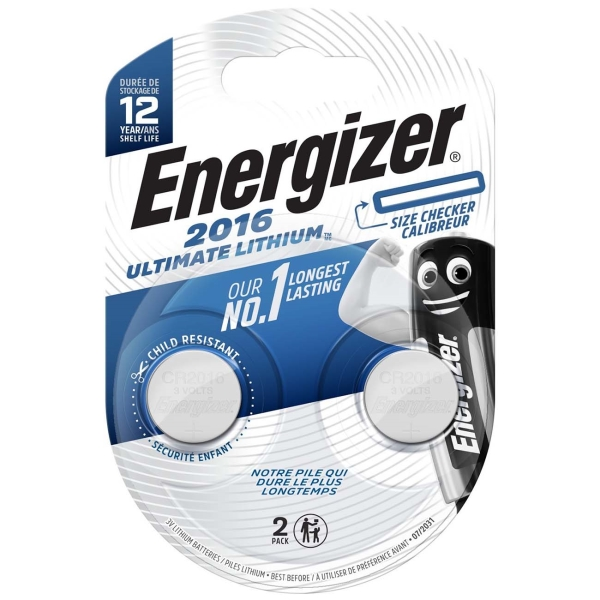 Батарея Energizer Ultimate Lithium CR2016 BP2 (E301319500)