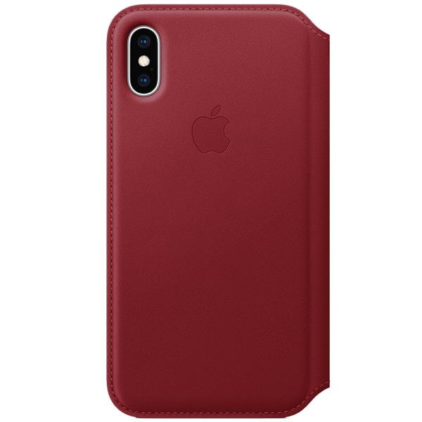 Чехол для iPhone Apple iPhone XS Leather Folio (PRODUCT)RED пальто женское sh bethlehem цвет красный rna18223cp red fire размер xs 40