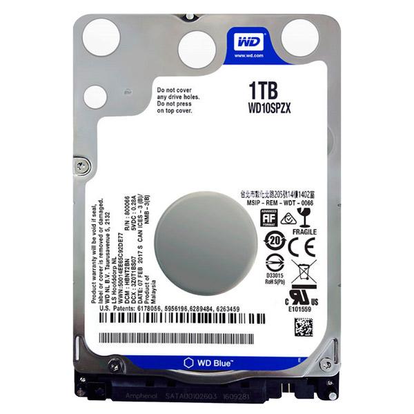 Портативный USB диск (внутренний HDD) WD 1TB Blue (WD10SPZX)