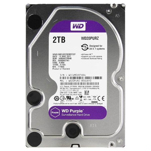 Внутренний HDD диск WD 2TB Purple (WD20PURZ)
