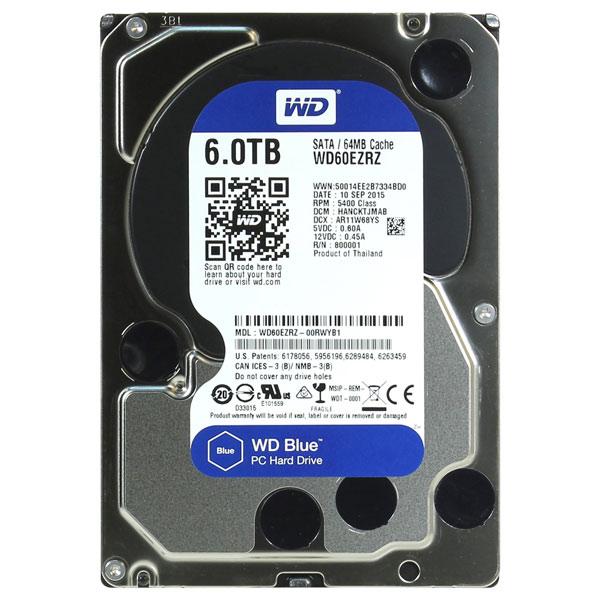 Портативный USB диск (внутренний HDD) WD 6TB Blue (WD60EZRZ)