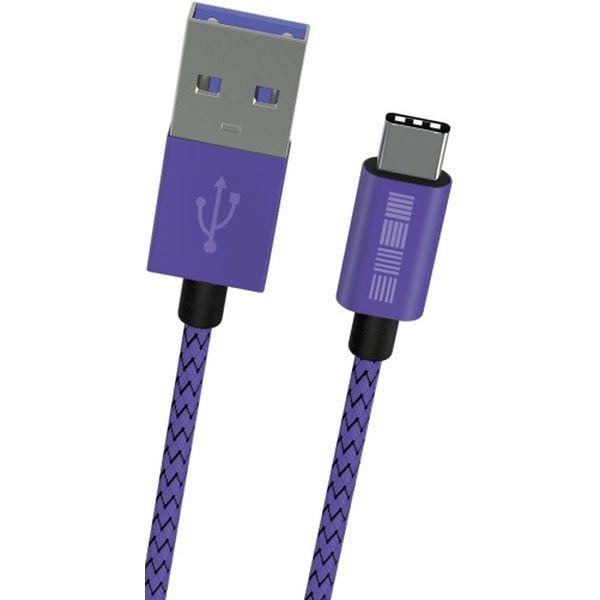 InterStep TypeC-USBA USB3.0 нейлон 1м M-M Ultra Violet TypeC-USBA USB3.0 нейлон 1м M-M Ultra Violet