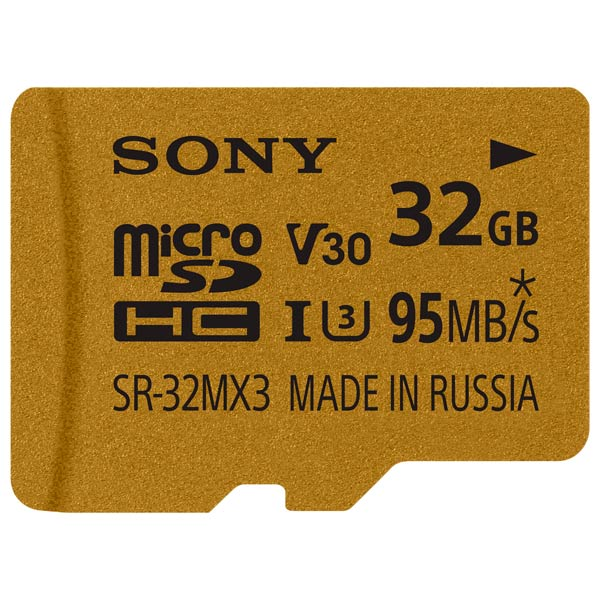 Карта памяти SDHC Micro Sony 32GB UHS-I U3+адаптер (SR32MX3A/NT)
