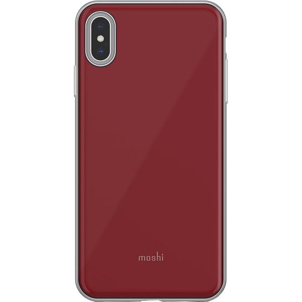 Чехол для iPhone Moshi iGlaze for iPhone XS Max Merlot Red пальто женское sh bethlehem цвет красный rna18223cp red fire размер xs 40