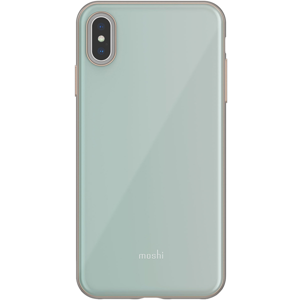 Чехол Moshi iGlaze for iPhone XS Max Powder Blue бирюзовый