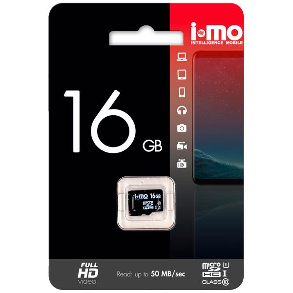 Карта памяти SDHC Micro IMO 16GB Сlass 10 UHS-I