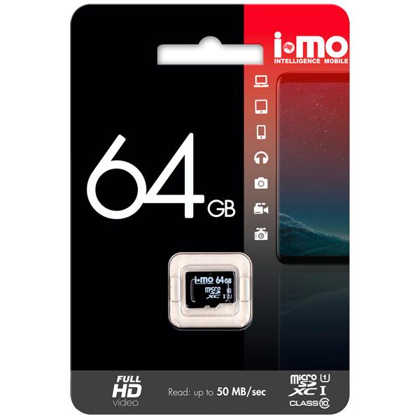 Карта памяти SDXC Micro IMO 64GB Сlass 10 UHS-I