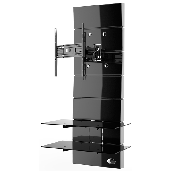 Пристенная стойка для ТВ с кронштейном Meliconi Ghost Design 3000 Rotation Black (488310)