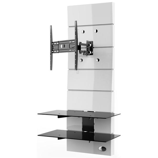 Пристенная стойка для ТВ с кронштейном Meliconi Ghost Design 3000 Rotation White (488311)