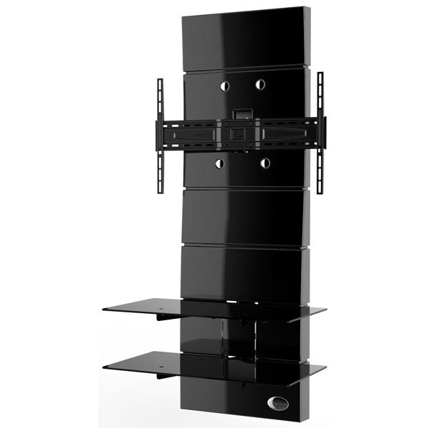 Пристенная стойка для ТВ с кронштейном Meliconi Ghost Design 3000 Black (488300)