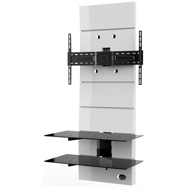 Пристенная стойка для ТВ с кронштейном Meliconi Ghost Design 3000 White (488301)