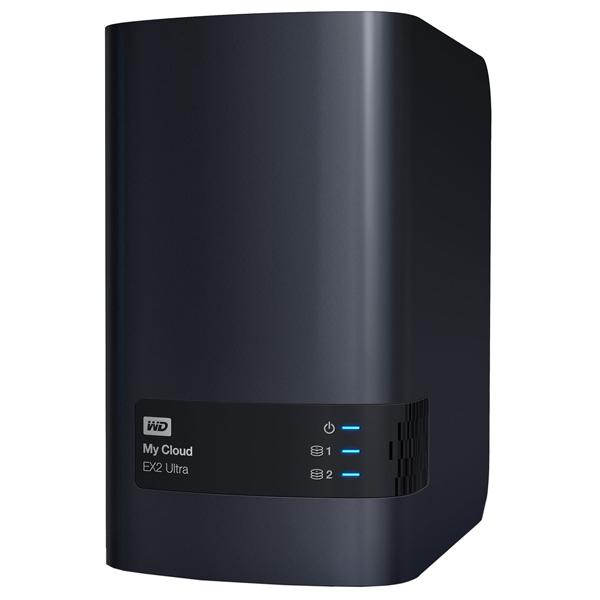 Сетевое хранилище данных WD — 12TB My Cloud EX2 Ultra (WDBSHB0120JCH-EEUE)