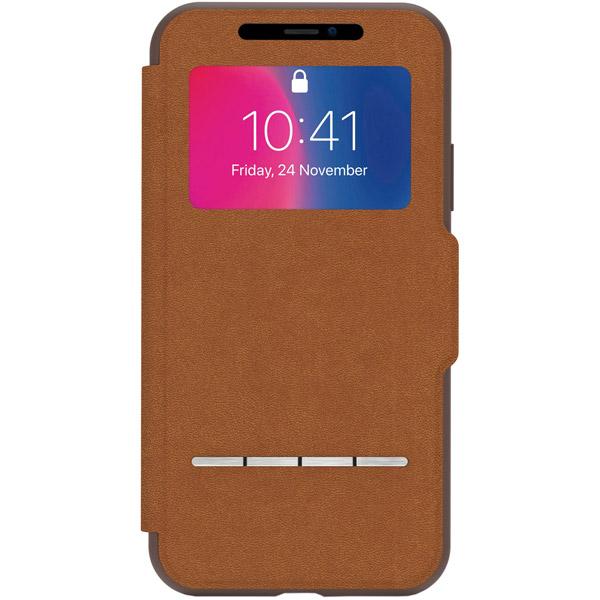 Чехол Moshi SenseCover для iPhone X/XS Caramel Brown коричневого цвета