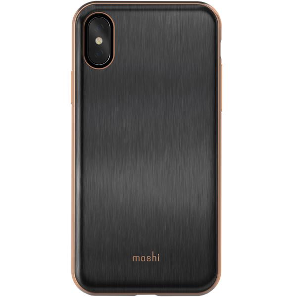 Чехол Moshi iGlaze для iPhone XS Black черного цвета