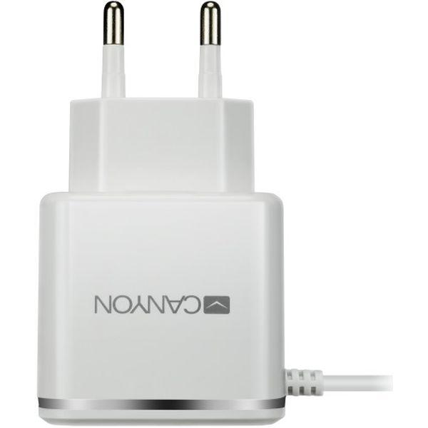 Сетевое зарядное устройство Canyon CNE-CHA043WS White/Silver