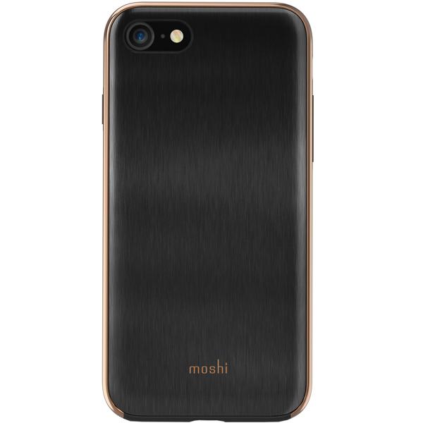 Чехол Moshi iGlaze дляiPhone 7/8 Charcoal Blaсk черного цвета