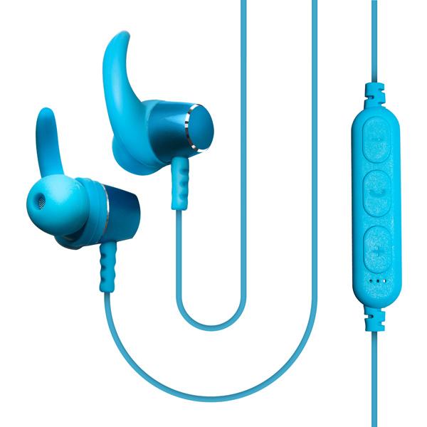 Спортивные наушники Bluetooth QUB — STN-180 Blue