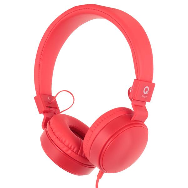 Наушники полноразмерные QUB STN-027 Red