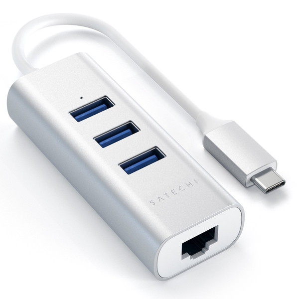 Переходник Satechi 3 Port Hub (ST-TC2N1USB31AS)