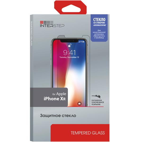 Защитное стекло InterStep глянцевое 0,3мм для iPhone XR c аппл.