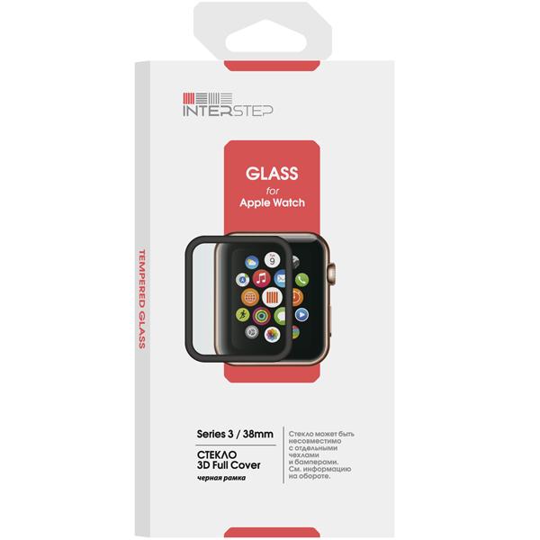 Стекло для Apple Watch InterStep 3D Full Cover для Apple Watch 3 38mm