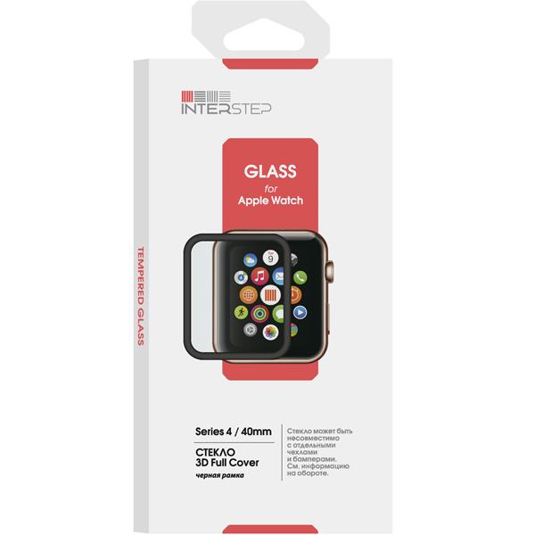 Стекло для Apple Watch InterStep 3D Full Cover для Apple Watch 4 40mm