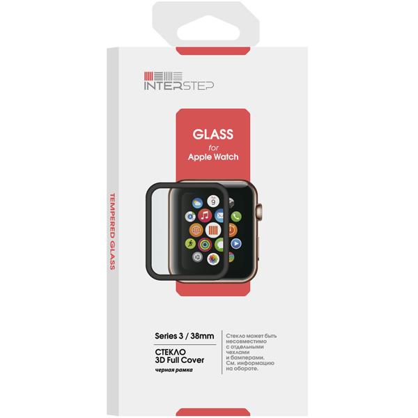 Стекло для Apple Watch InterStep 3D Full Cover для Apple Watch 4 44mm
