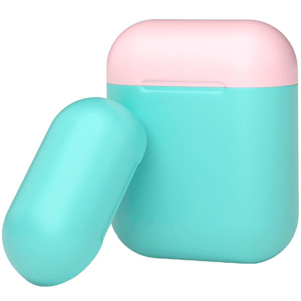 Чехол для AirPods Deppa — мятный/розовый