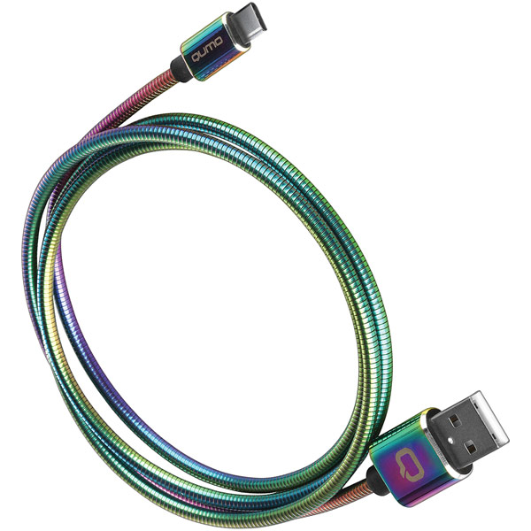 Кабель USB Type-C Qumo Rainbow USB 2.0-Type C 1.2м