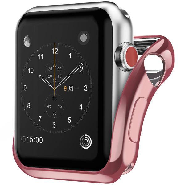 Бампер для Apple Watch InterStep 40mm Спортивный, силикон, розовый