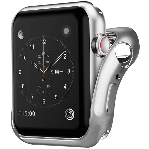 Бампер для Apple Watch InterStep 40mm Спортивный, силикон, серебро