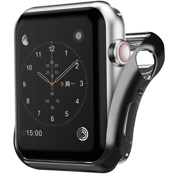 Бампер для Apple Watch InterStep 40mm Спортивный, силикон, чёрный