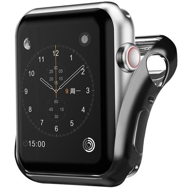 Бампер для Apple Watch InterStep 42mm Спортивный, силикон, чёрный