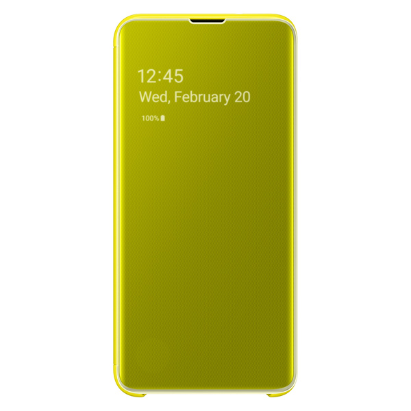 Чехол Samsung — Clear View Cover для Galaxy S10E, Yellow