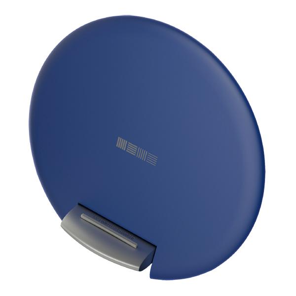 Беспроводное зарядное устройство InterStep QI + СЗУ QuickCharge 10W Dark Blue