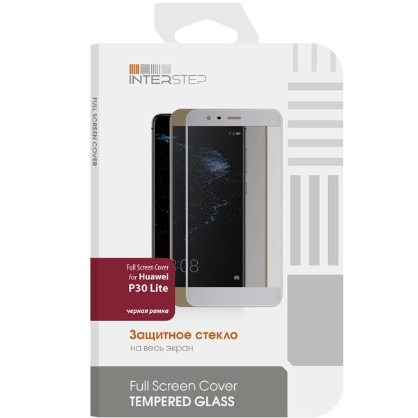 Защитное стекло InterStep Full Screen Cover для Huawei P30 Lite, Black Fram