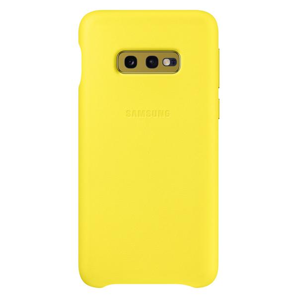 Чехол Samsung — Leather Cover для Galaxy S10E, Yellow