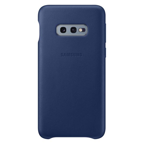 Чехол Samsung Leather Cover для Galaxy S10E, Dark Blue темно-синий