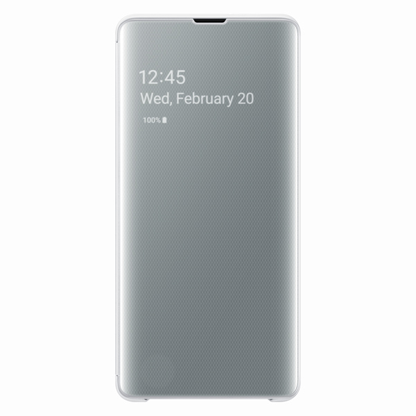 Чехол Samsung Clear View Cover для Galaxy S10+, White