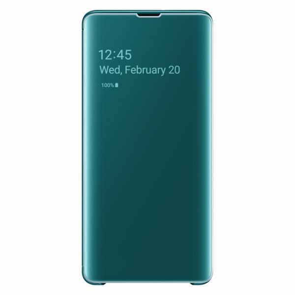 Чехол Samsung — Clear View Cover для Galaxy S10+, Green