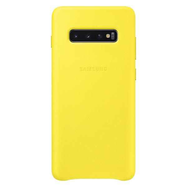 Чехол Samsung — Leather Cover для Galaxy S10+, Yellow