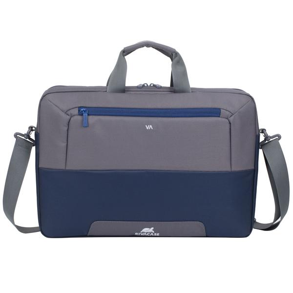 """Купить Кейс для ноутбука RIVACASE 7757 17.3"""" Blue/Grey в каталоге интернет магазина М.Видео по выгодной цене с доставкой, отзывы, фотографии - Москва"""