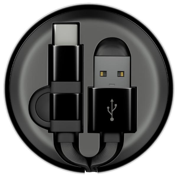 Кабель USB Type-C InterStep MicroUSB+TypeC USB 0,9м Black/Black