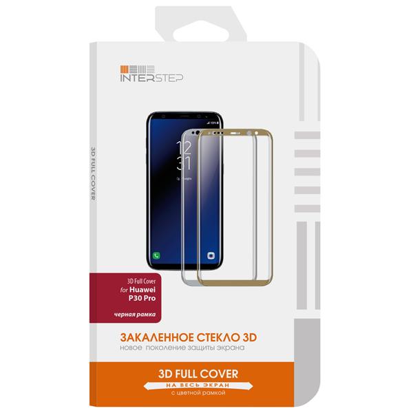 Защитное стекло InterStep 3D FC д/Huawei P30 Pro, Black Frame