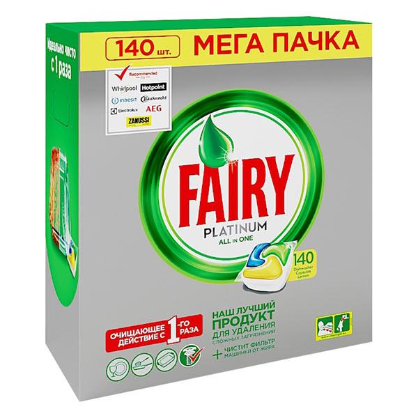 Моющее средство для посудомоечной машины Fairy Platinum 140 ALL in 1