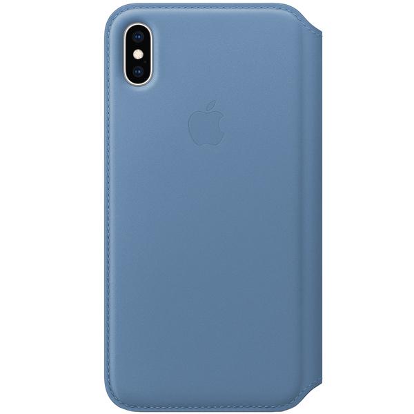 Чехол Apple iPhone XS Max LeathFolio Cornflower синие сумерки