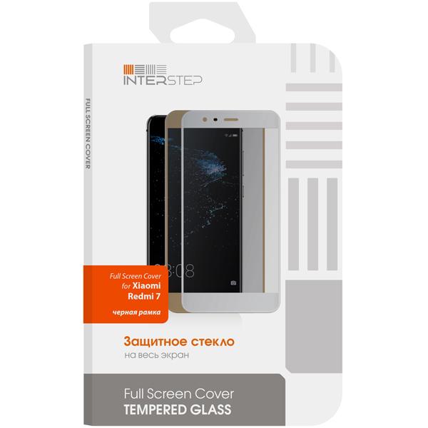Защитное стекло InterStep FSC д/Xiaomi Redmi 7, Black Frame