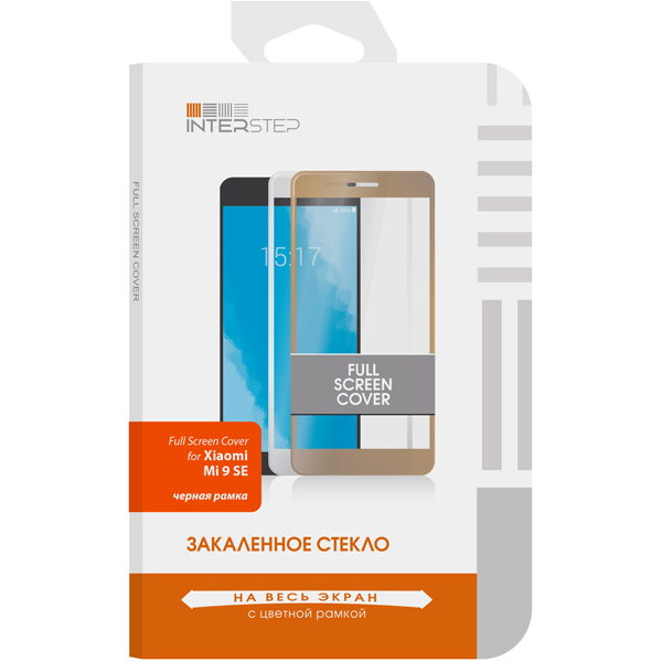 Защитное стекло InterStep FSC д/Xiaomi Mi 9 SE, Black Frame