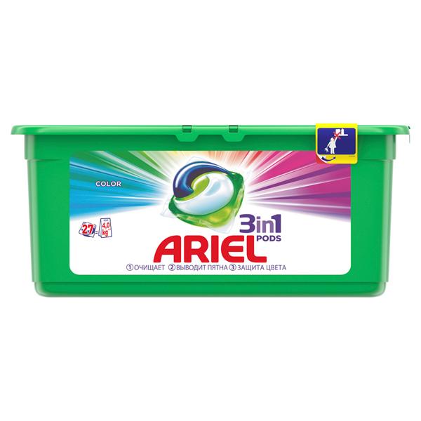 Жидкость для стирки Ariel 3in1 PODS 27 кап. Color