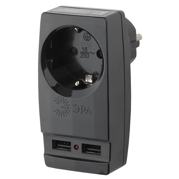 Сетевое зарядное устройство ЭРА Polynom SP-1e-USB-B